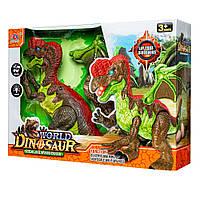Динозавр игрушечный интерактивный со звуком и откладыванием яиц