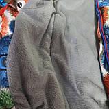 Куртка демисезонная теплая для девочки с капюшоном на замке., фото 2
