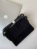 Маленькая черная замшевая сумка мини клатч через плечо Pretty Woman Одесса