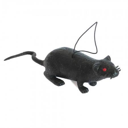 Резиновая Крыса 10см (черная), фото 2