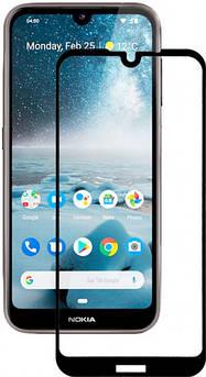 Защитное стекло для Nokia 4.2 (Нокия 4.2) на весь экран (черное)