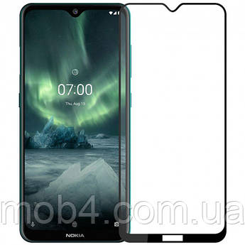 Захисне скло для Nokia 6.2 (Нокія 6.2) на весь екран (чорне)