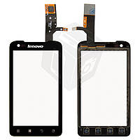Сенсорный экран (touchscreen) для Lenovo A660, черный, оригинал