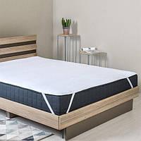 Наматрасник Полуторный стеганый на кровать с угловыми фиксаторами IDEIA LUX 250г/м2 160х200 см белый (8-11979)