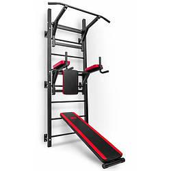 Воркаут станція з шведською стінкою Hop-Sport HS-1008K для дома и спортзала с нагрузкой до 150 кг