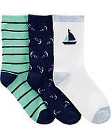 Набор детских носочков 3 пар на морскую тематику Картерс для мальчика