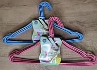 Набор вешалок металлических с покрытием порошковой краской (10 штук)