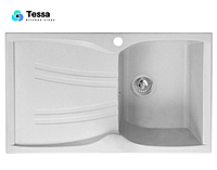 Мойка кухонная гранитная Tessa Briz белая 47001
