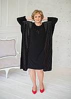 Плаття нарядне чорного кольору з сріблястою ниткою