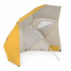 Зонт пляжный складной диаметром 210 см di Volio Sora желтого цвета садовый зонт