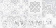30х60 Керамическая плитка стена Doha Patchwork Доха серый пэчворк №1