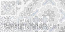 30х60 Керамическая плитка стена Doha Patchwork Доха серый пэчворк №2