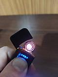 Usb зажигалка спиральная lighter fire, сенсорная черная, фото 2
