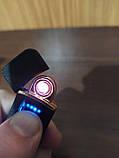 Usb зажигалка спиральная lighter fire, сенсорная черная, фото 3