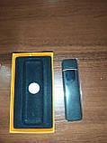 Usb зажигалка спиральная lighter fire, сенсорная черная, фото 5