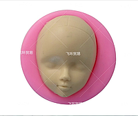 """Молд силиконовый """"Лицо куклы 7"""",  5,4 * 5,4 * 2,0 см."""