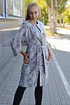 Жіночий плащ - кардиган з неопрену сірий, фото 2