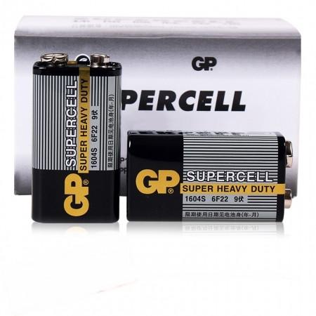 Батарейка Крона (9 V)  GP SuperCell для поинтеров металлоискателей и толщиномеров (комплект 2 штуки)