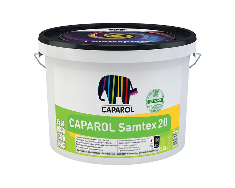 Краска латексная CAPAROL SAMTEX 20 E.L.F ПОЛЬША интерьерная B1-белая 2,5л