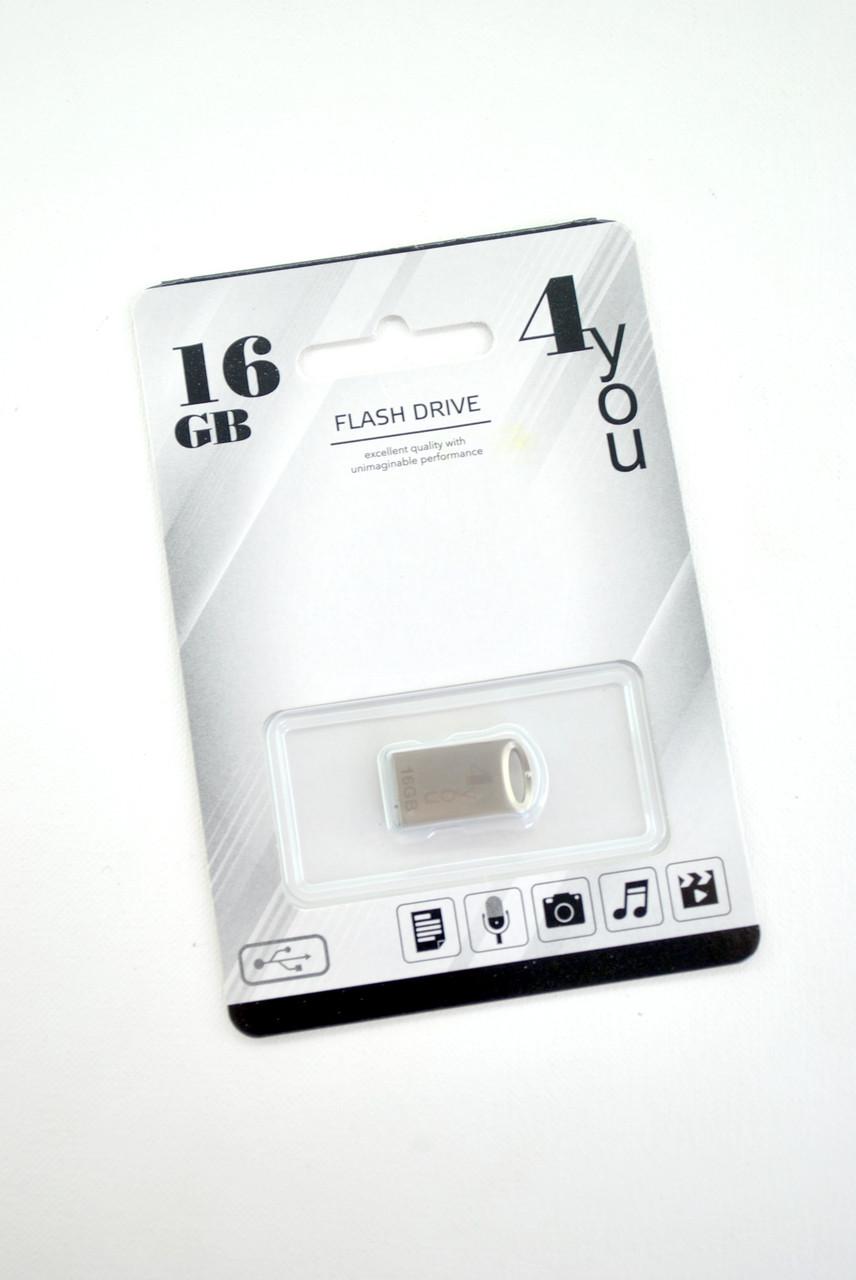 Флеш-накопитель Usb 16Gb 4you 105 Metal series