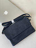 Молодежный клатч классический синий мини-сумочка женская темно-синяя Pretty Woman