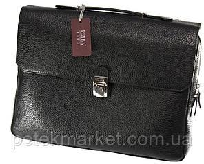 Кожаный портфель Petek 3888