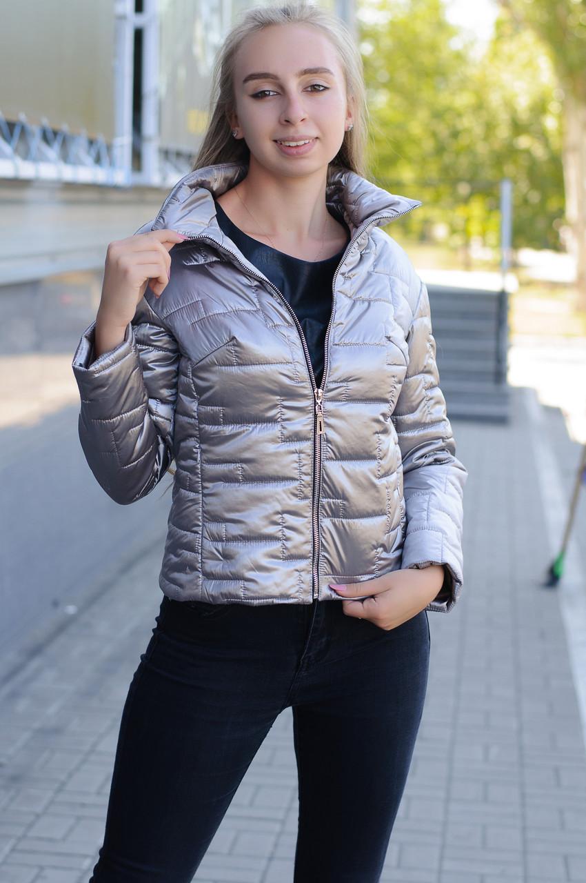 Женская демисезонная стеганная короткая куртка  Raslov 294-1 46