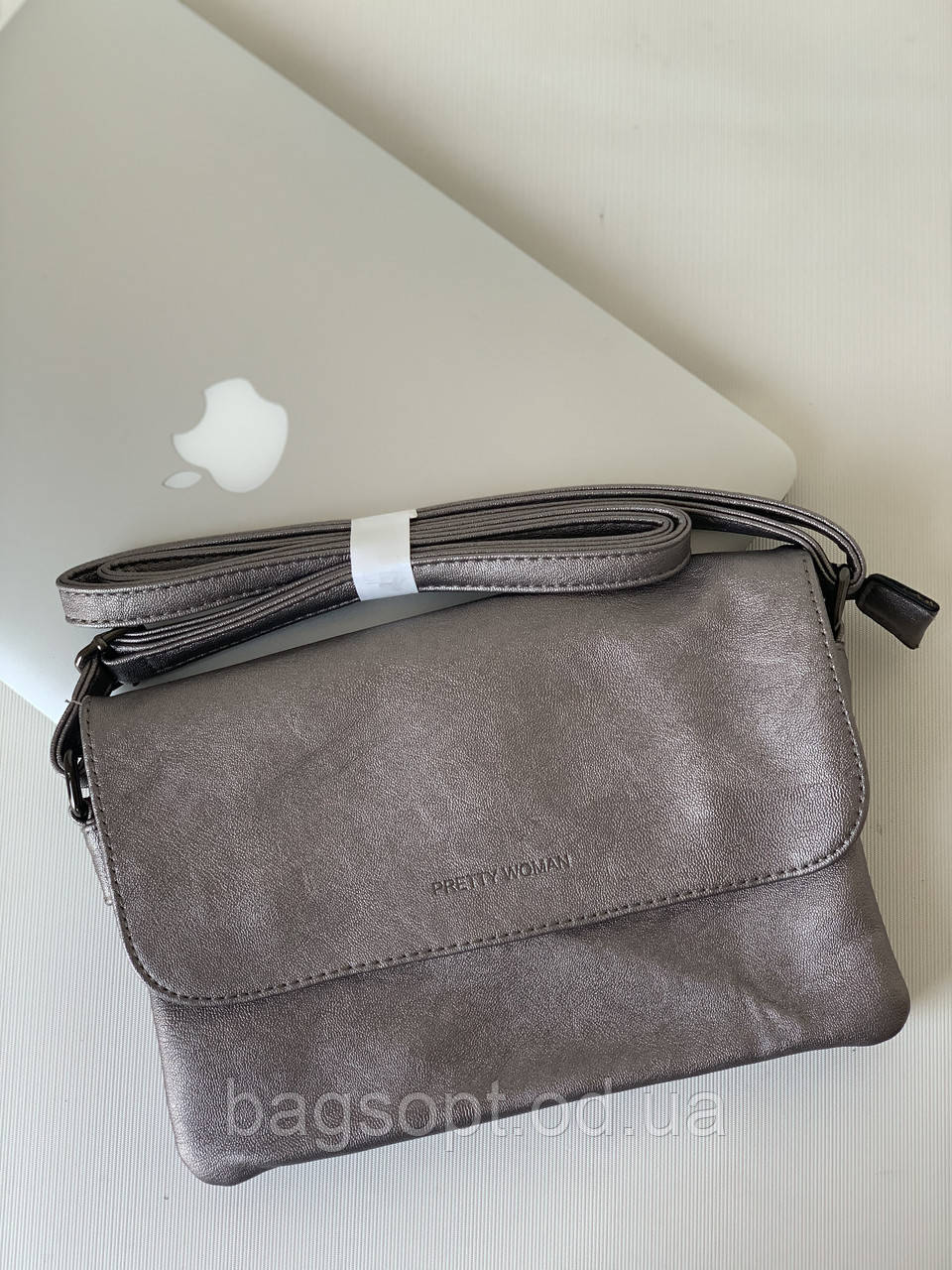 Маленька жіноча срібляста сумочка клатч через плече Pretty Woman 7км Одеса