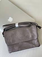 Маленька жіноча срібляста сумочка клатч через плече Pretty Woman 7км Одеса, фото 1