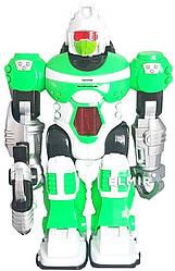 """Интерактивный робот электронный, ходит, светится, говорит на русском на баратейках Zhorya """"Бласт"""", зеленый"""