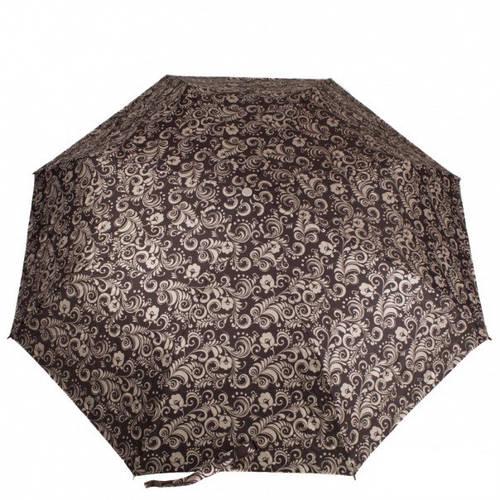 Стильный зонт женский полуавтомат ZEST (ЗЕСТ), коричневый, Антиветер, Z23629-3