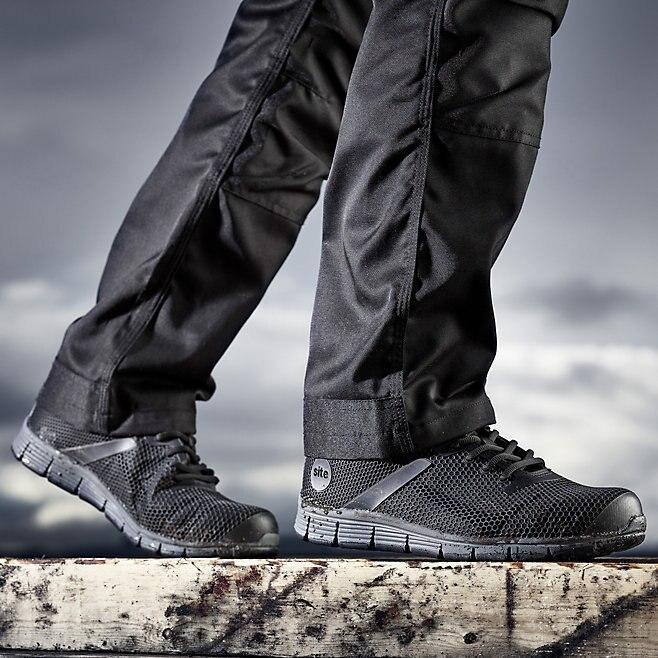 Мужские рабочие кроссовки,ботинки с металлическим подноском. Защитные ботинки SITE