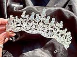 Крісті Діадема з рослинним орнаментом бутонами новини в обрамленні кристалів (5,5 см), фото 6