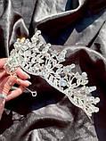 Крісті Діадема з рослинним орнаментом бутонами новини в обрамленні кристалів (5,5 см), фото 9