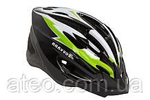 """Шолом велосипедний HE 126 чорно-біло-салатовий Розмір L"""" чорно-біло-салатовий"""
