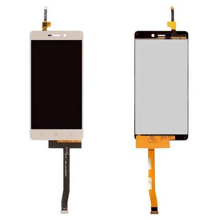 Дисплей (экран) для Xiaomi Redmi 3x з сенсором (тачскріном) золотистый, фото 2