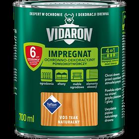 Импрегнат защитный декоративный для защиты древесины V05 Vidaron ТИК НАТУРАЛЬНЫЙ 0,7