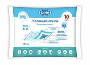 """Впитывающие универсальные пелёнки размер  60х60 см 10 штук  """"Lindo"""" (Линдо) U 51804"""
