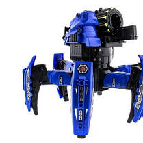 Робот-паук Keye Space Warrior на радиоуправлении ракеты, диски, лазер, синий SKL17-139945, фото 3