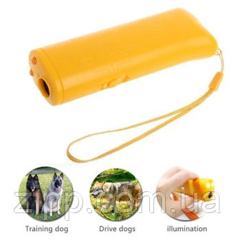 Ультразвуковий відлякувач собак c ліхтариком і функцією тренування VJTech AD-100