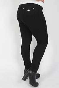 Лосины женские утеплённые большие размеры турецкий трикотаж на флисе №08167 с карманами