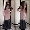 Платье годе с кожаными вставками (разные цвета), фото 2