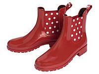 Резиновые сапоги  женские красные 40
