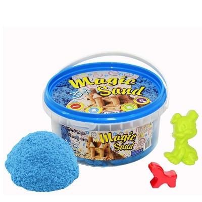 Кинетический песок Strateg Magic sand голубого цвета, ведро 350 г SKL11-237279