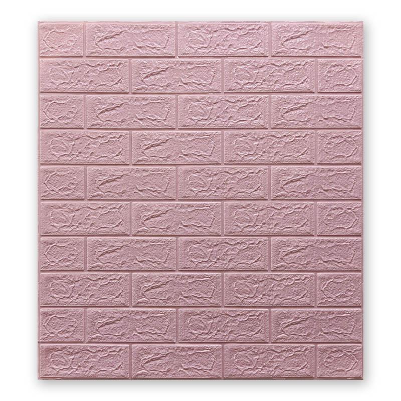 Самоклеющиеся обои под Розовый Кирпич (самоклеющиеся 3d панели для стен оригинал) 700x770x5 мм