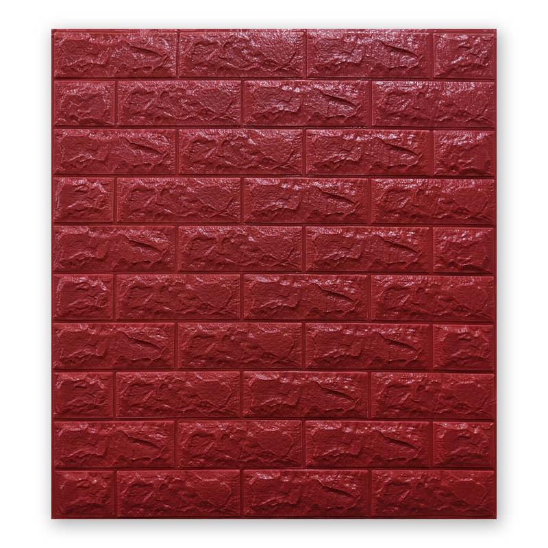 Самоклеющиеся обои под Красный Кирпич (самоклеющиеся 3d панели для стен оригинал) 700x770x7 мм