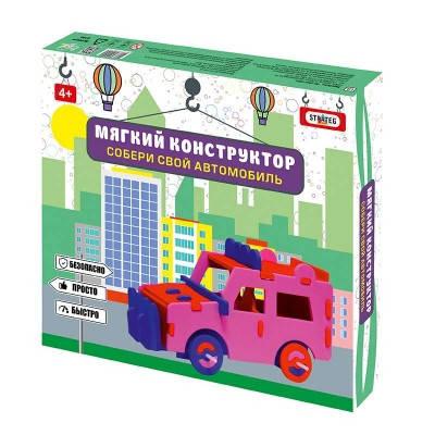 Мягкий конструктор Strateg Автомобиль-джип на русском SKL11-237437, фото 2