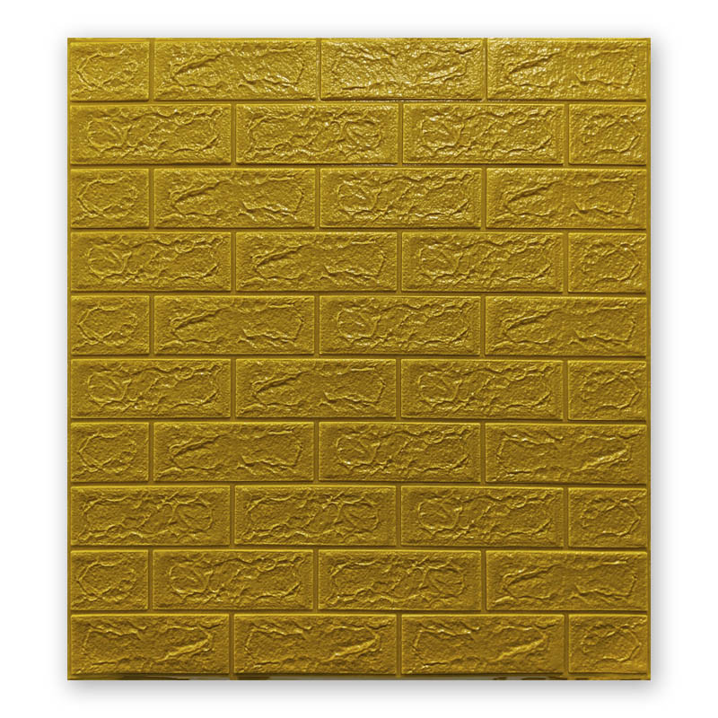 Самоклеющиеся обои под Золото Кирпич (самоклеющиеся 3d панели для стен оригинал) 700x770x5 мм