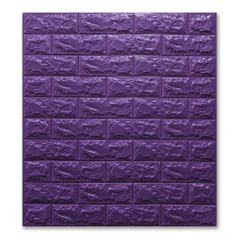 Самоклеющиеся обои под Фиолетовый Кирпич (самоклеющиеся 3d панели для стен оригинал) 700x770x7 мм