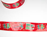 Лента Подарки 2,5 см, красная